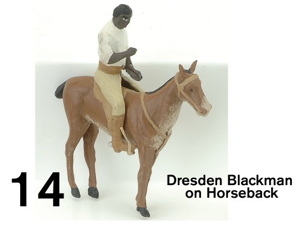 14: Dresden Blackman on Horseback Ornament