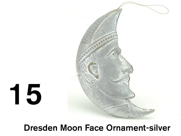 15: Dresden Moon Face Ornament-silver