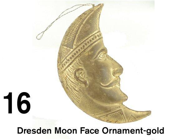 16: Dresden Moon Face Ornament-gold