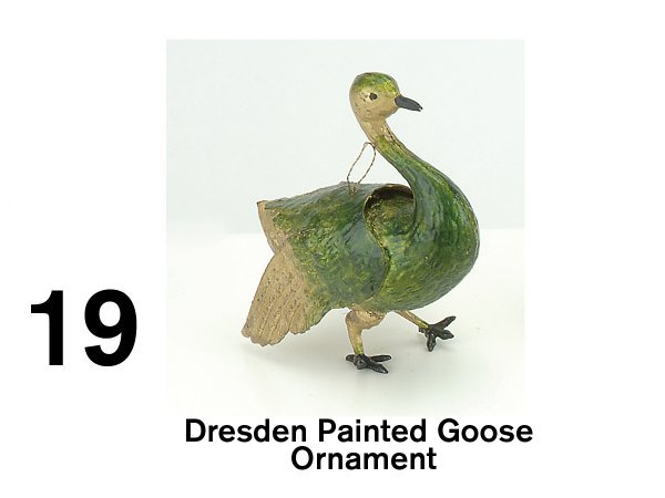 19: Dresden Painted Goose Ornament