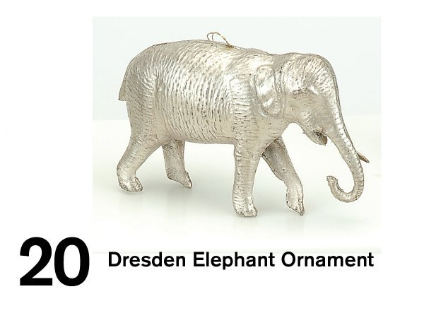 20: Dresden Elephant Ornament