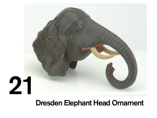 21: Dresden Elephant Head Ornament