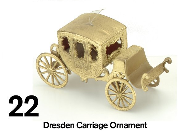 22: Dresden Carriage Ornament
