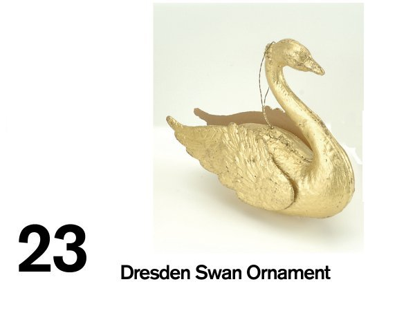 23: Dresden Swan Ornament