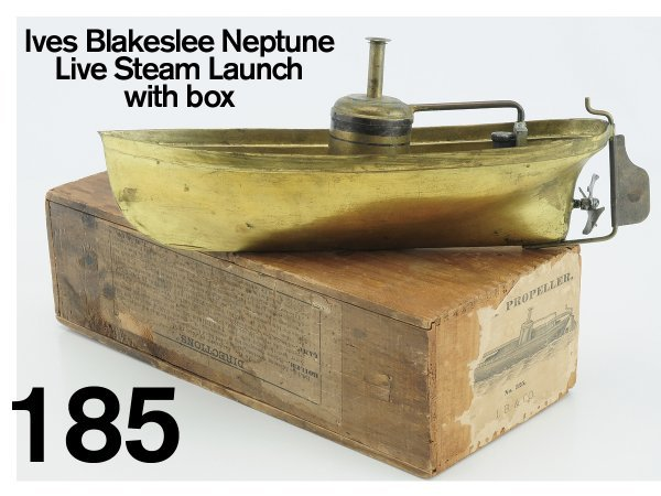 185: Ives Blakeslee Neptune Live Steam Launch with box