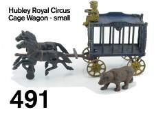 491: Hubley Royal Circus Cage Wagon - small