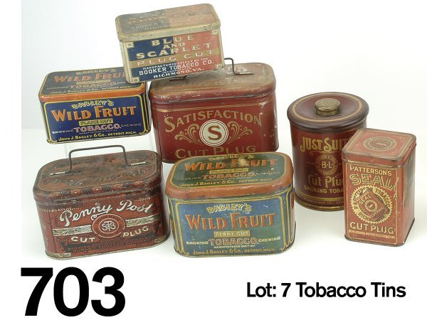 703: Lot: 7 Tobacco Tins