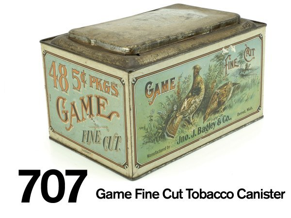 707: Game Fine Cut Tobacco Canister