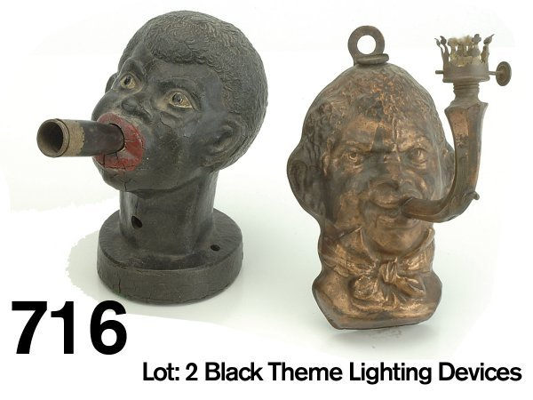 716: Lot: 2 Black Theme Lighting Devices