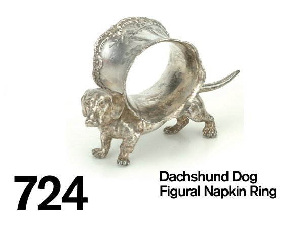 724: Dachshund Dog Figural Napkin Ring