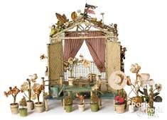 German painted tin dollhouse green house