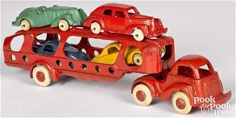 Hubley cast iron car carrier