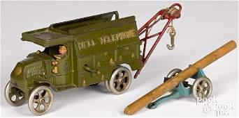 Hubley cast iron Bell Telephone truck