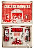Hubley boxed Fire Dept. Company no. 1 set