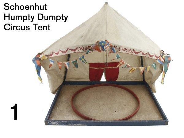 1: Schoenhut Humpty Dumpty Circus Tent
