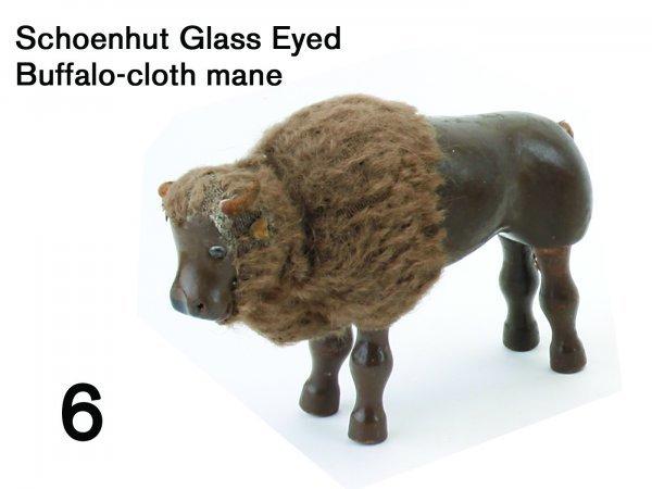 6: Schoenhut Glass Eyed Buffalo-cloth mane