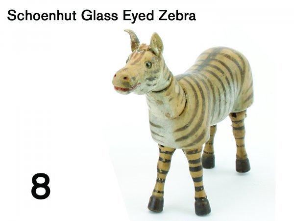 8: Schoenhut Glass Eyed Zebra