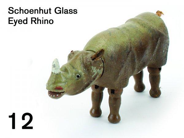 12: Schoenhut Glass Eyed Rhino