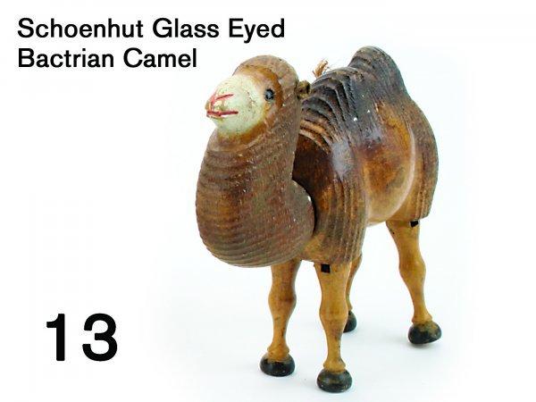 13: Schoenhut Glass Eyed Bactrian Camel
