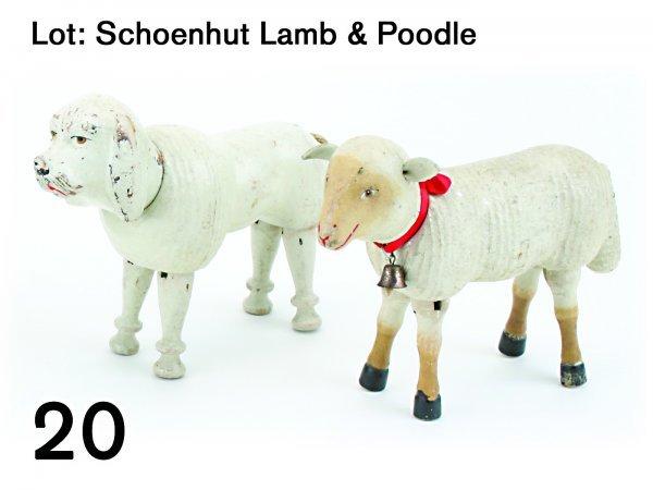 20: Lot: Schoenhut Lamb & Poodle