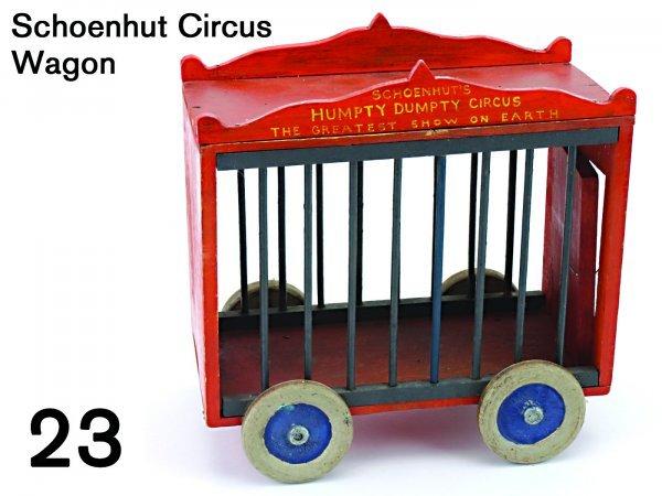 23: Schoenhut Circus Wagon
