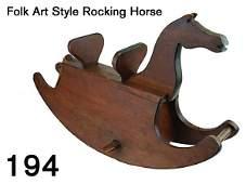 194: Folk Art Style Rocking Horse