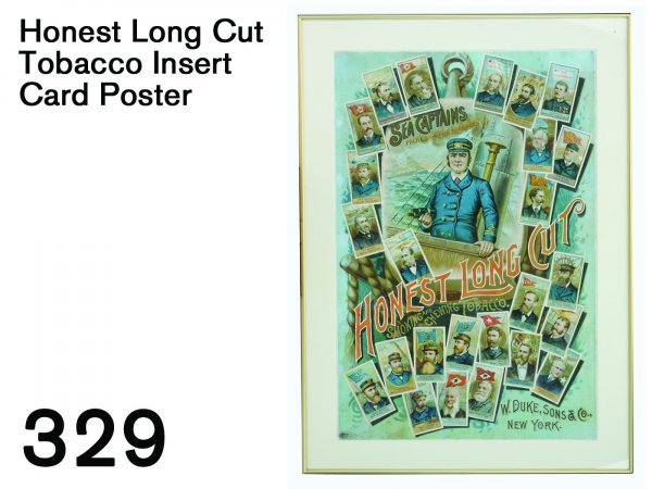 329: Honest Long Cut Tobacco Insert Card Poster