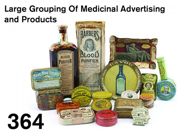 364: Large Grouping Of Medicinal Advertising and Produc