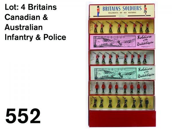 552: Lot: 4 Britains Canadian & Australian Infantry & P