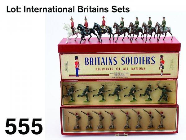 555: Lot: International Britains Sets