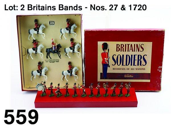 559: Lot: 2 Britains Bands - Nos. 27 & 1720