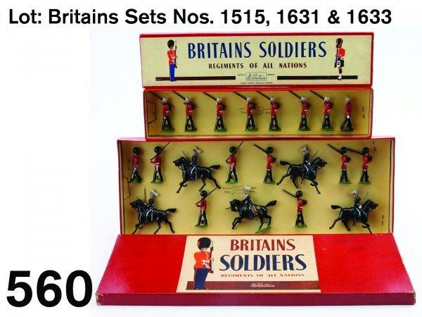 560: Lot: Britains Sets Nos. 1515, 1631 & 1633