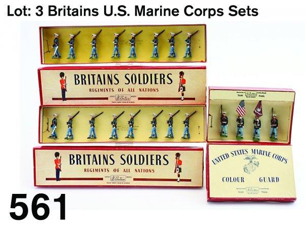 561: Lot: 3 Britains U.S. Marine Corps Sets