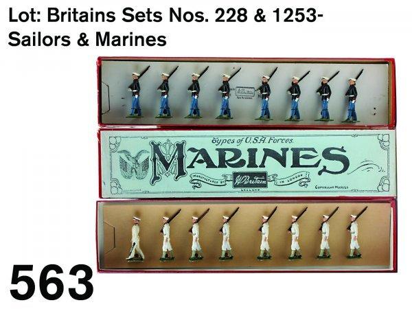563: Lot: Britains Sets Nos. 228 & 1253-Sailors & Marin