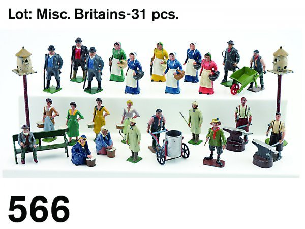 566: Lot: Misc. Britains-31 pcs.
