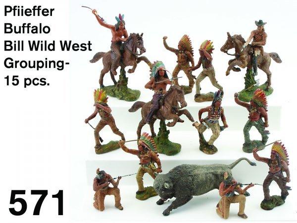571: Pfiieffer Buffalo Bill Wild West Grouping - 15 pcs