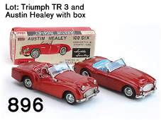 896 Lot Triumph TR 3 and Austin Healey with box
