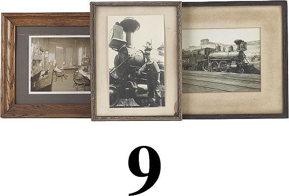 9: Lot: 3 Framed Railroad Theme Photographs
