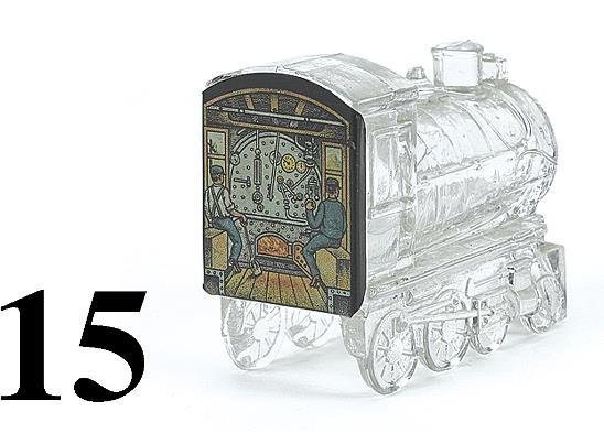 15: Glass Train Candy Container