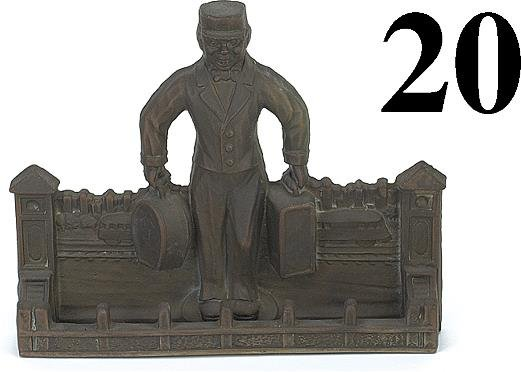 20: Brass Casting of Porter with Baggage