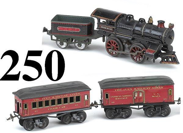 250: Ives Railway O Gauge #17 Passenger Set