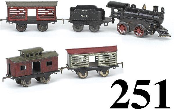 251: Ives O Gauge #5 Livestock Transport Set