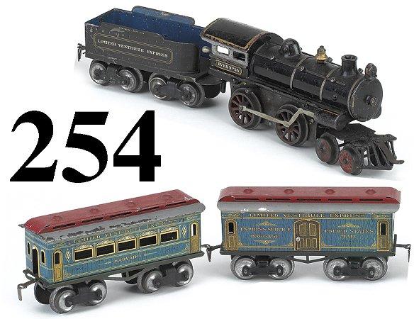 254: Ives #25 O Gauge Harvard Passenger Set