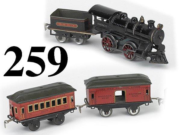 259: Ives Railway O Gauge #17 Passenger Set