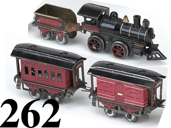 262: Ives O Gauge LVE Hiawatha Train Set