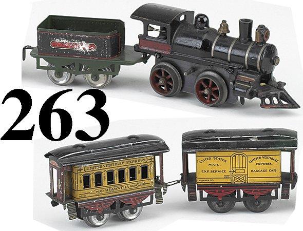 263: Ives O Gauge Hiawatha Passenger Set