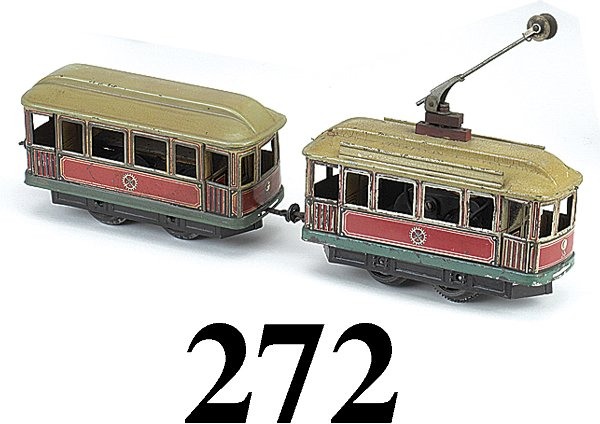 272: Carette O Gauge Trolley and Trailer