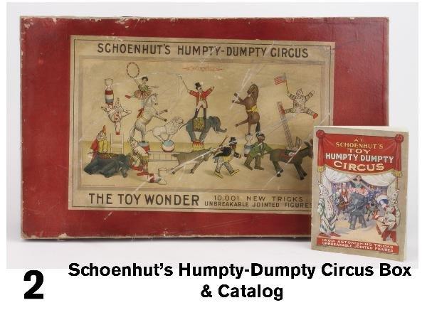 2: Schoenhut's Humpty-Dumpty Circus Box & Catalog