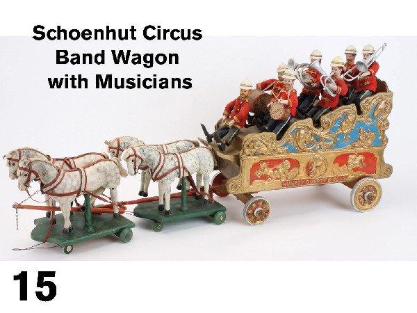 15: Schoenhut Circus Band Wagon with Musicians