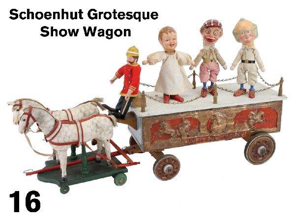 16: Schoenhut Grotesque Show Wagon